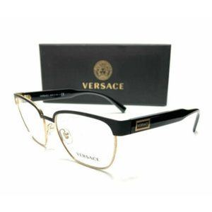 Versace Men's Matte Black Pillow Eyeglasses!